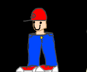 Blue Mario Roblox Roblox Mario But With Only Head And Legs Wtf Drawception