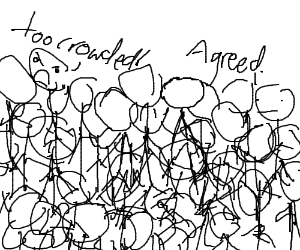Crowd of stickmen