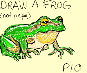 Draw a frog (Not Pepe) Pass It On