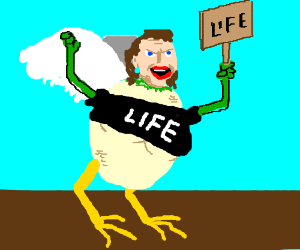 Overweight harpy is pro life (NOT pro abortion