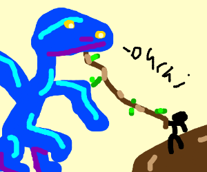 stabbing a dragon with a REALLY long stick