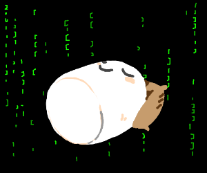 marshmallow man sleeps in the Matrix