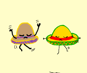 Very sad literal Mexican hat dance