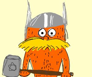 The Lorax cosplaying Thor
