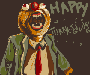 Happy Thanksgiving exclaims dapper yellmo
