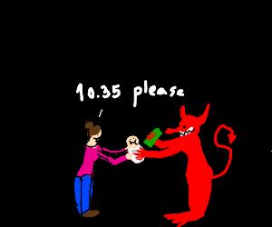 women sacrifices baby to satan
