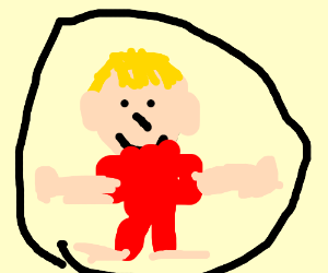 Man in circle