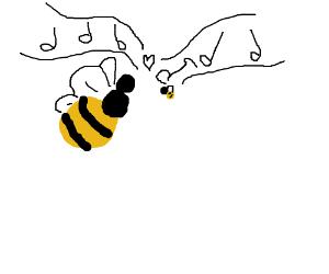 bees in love singing