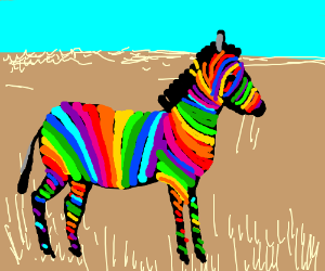 Rainbow Stripped Zebra