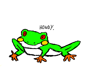 Frog says Howdy