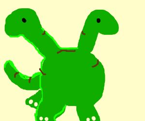 Two-headed brontosaurus (with separate necks)