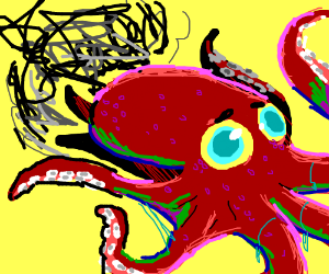 Octopus hugs, with extra ink squirts