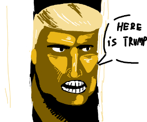 here's johnny but with trump