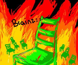 the apocalypse with zombie chairs