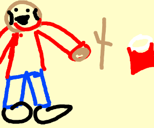 hamsar guy plus a red plastic cup