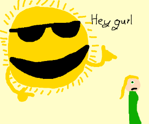 Molester sun emoji - Drawception