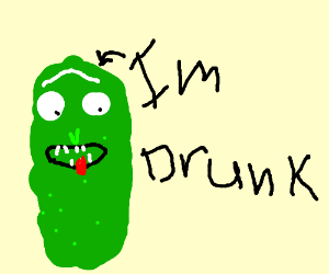 drunk pickle rick