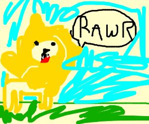 Lion says RAWR!!!!!
