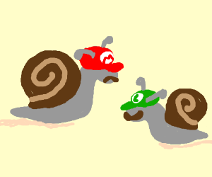 mario and luigi are now snails