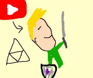 Jazza disguised as Zelda from Legend of Zelda