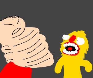 Chin-zilla vs. Yellmo