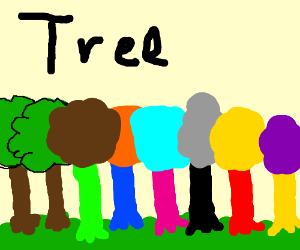 2 normal trees and 6 not normal trees