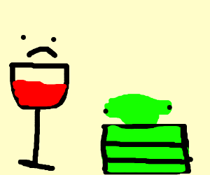 Bad Wine And Lemon Cake Drawing By Chasen Clark Drawception