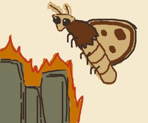 An apocalypse due to a giant Moth