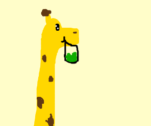 giraffe enjoying a bag of vegetables