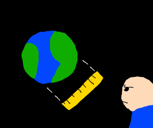 Measuring Earth with a Ruler Stick. (Have Fun)
