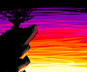 sad overhang during sunset
