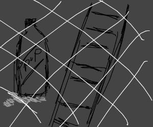 Soda Bottle, Ladder, and White lines