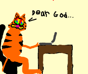 google garfield on computer