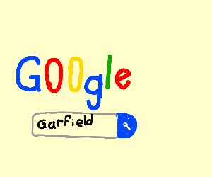 Google search for Garfild.