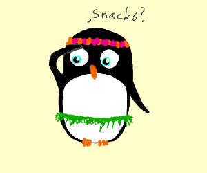 Bejeweled Hawaiian Penguin Looking for Snacks