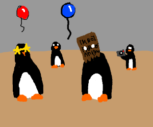 Celebrity Penguin Party