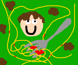 Don't be upsetti have some spaghetti