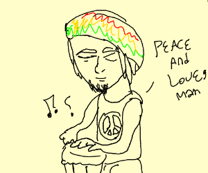Hippy Bongo player