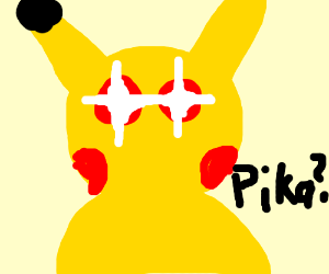 Pikachu with laser eyes
