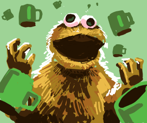 coffee monster makes coffee party drawception