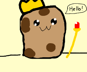 "Potato king sayings ""hello"""