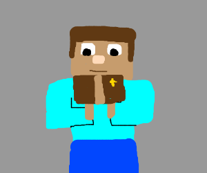 Minecraft Person Reading Minecraft Bible Drawing By Pyro101