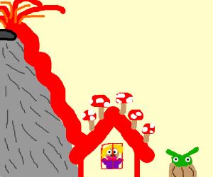 """""""ava"""" in a lava/mushroom house...yoda?"""
