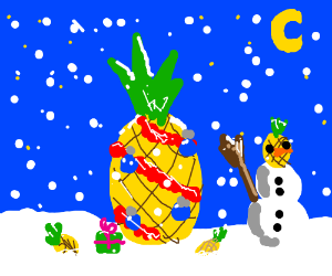 Christmas but with pineapples
