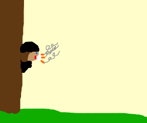 Team Fortress Spy With A Mouthful Of Cigarette Drawception
