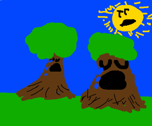 two crying trees