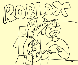 little kid filming a roblox letsplay