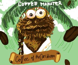 Coffee Monster Christmas Ornament