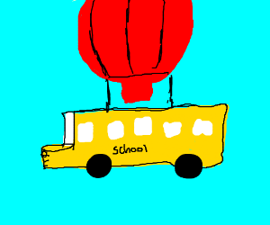 Hot Air Balloon Bus From Fortnite Battle Royal Drawing By