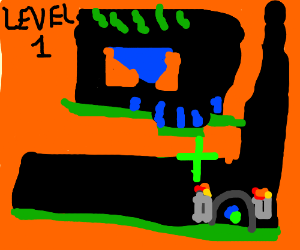 Lemmings, level 1